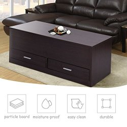 Tangkula Coffee Table Home Living Room Espresso