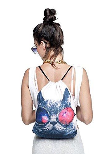 Aigemi Unicorn Print Drawstring Gym Sport Bag
