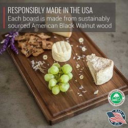 Large Walnut Wood Cutting Board by Virginia Boys Kitchens