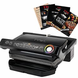 T-Fal Grill with Ceramic Plates & Recipe Book, Black