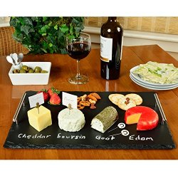 Picnic at Ascot Deluxe Handcrafted Slate Cheese Board