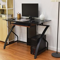 Home Office Computer Workstation with Pull-out Keyboard Tray