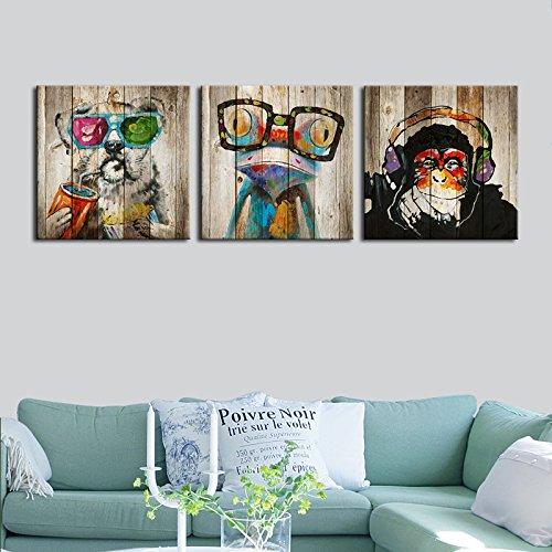 "Kolo Wall Art Total 60""x20"" Abstract Animals"