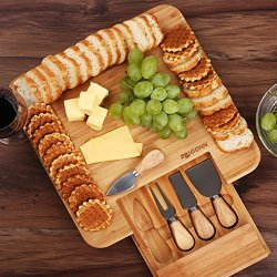 Natural Bamboo Cheese Board & Charcuterie Platter