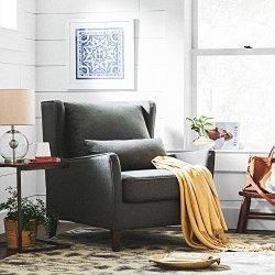 Stone & Beam Sascha Wingback Removable Cushion Chair