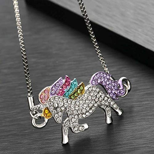 Aigemi Unicorn Pendant Necklace for Girls