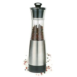 Portable Stainless Steel Electric Salt and Pepper Grinder