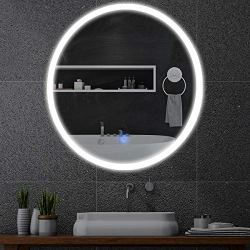 Round Wall Mount Lighted Mirror