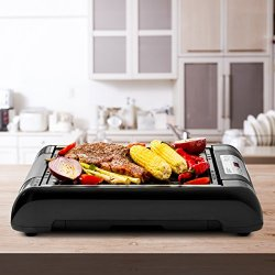 Magic Mill 2 in 1 Electric Smokeless Grill and Griddle Pan