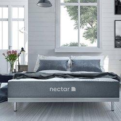 Nectar Queen Mattress + 2 Free Pillows - Gel Memory Foam