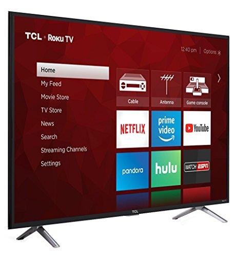 TCL 49-Inch 4K Ultra HD Roku Smart LED TV (2017 Model)