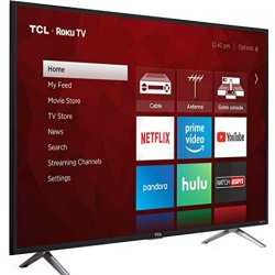 TCL 49-Inch 4K Ultra HD Roku Smart LED TV (2017 Model)