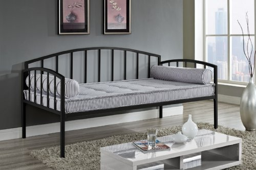 DHP Ava Metal Daybed Frame with Round Arm Design