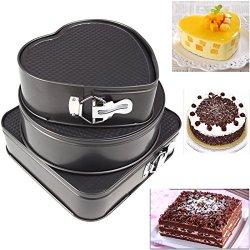 Baking Tools Chocolate Set of Three Springform Pans
