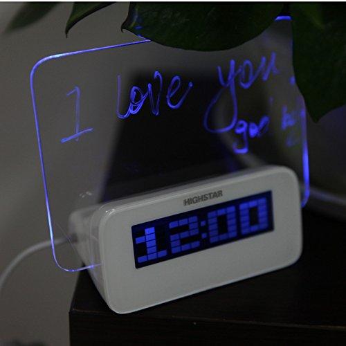 LED Temperature Desktop Director Table Clocks Digital