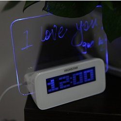 LED Temperature Desktop Director Table Clocks Digital