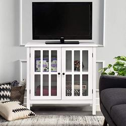 Sideboard Console Table Server Display Buffet Cabinet (White)