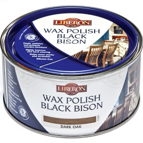 Liberon Black Bison Paste Wax Dark Oak 500ml
