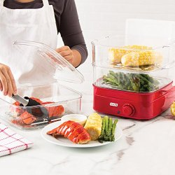 Dash Instant Food Steamer, Red