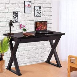 Tangkula Black Computer Desk Workstation