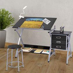 Tangkula Drafting Table Art & Craft Drawing Desk