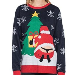 Tipsy Elves Women's Winter Whale Tail Sweater