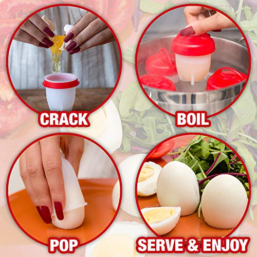 Egg Cooker Cups - for Hard and Soft Boiled Eggs
