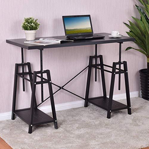 Tangkula Computer Desk Home Office Metal Frame