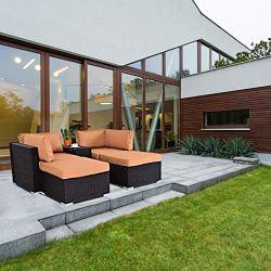 Outdoor Wicker Chair Lounge Set