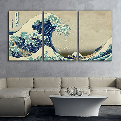 3 Panel World Famous Painting Reproduction on Canvas Wall Art