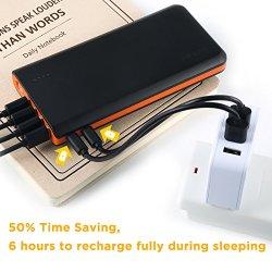 EasyAcc 20000mAh Portable Charger Fast Recharge Power Bank