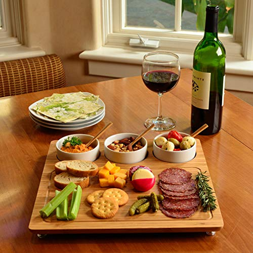 Picnic at Ascot Personalized Engraved Bamboo Cheese Board