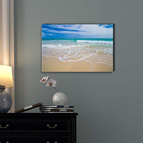 Canvas Prints Wall Art - Romantic Scene of Sea Waves