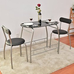 Glass Top Modern Furniture Table and Chairs Dining Set