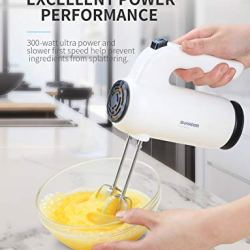Hand Mixer Electric SHARDOR 300W Ultra Power