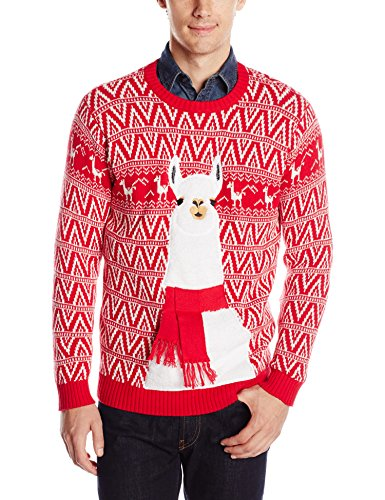 Blizzard Bay Men's Festive Llama Ugly Christmas Sweater