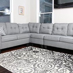 Oliver Smith - Large Light Grey Linen Cloth Modern