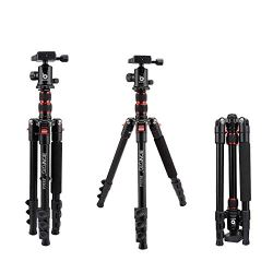 BONFOTO B690A Lightweight Aluminum Tripod Portable Travel Camera Stand