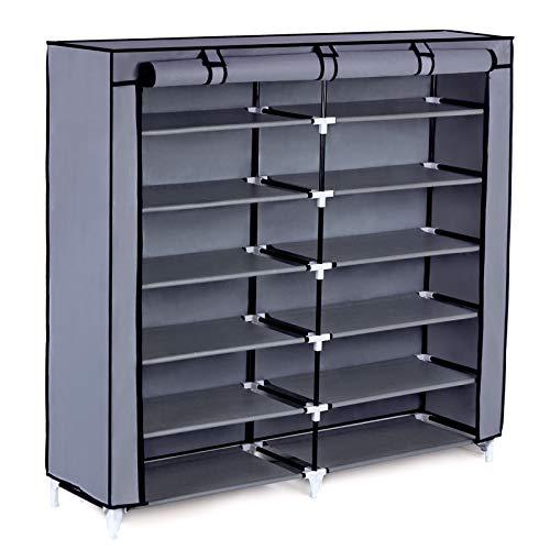 7-Tier Shoe Rack 36-Pair Portable Shoe Storage