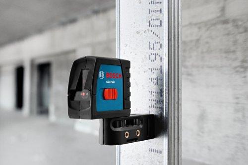 Bosch GLL2-40 Self-Level Cross Line Laser, Up To 30 Feet