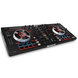4-channel DJ Controller With 4-deck Layering and Hi-Res Display