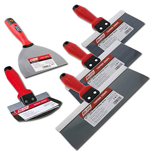 Wal-Board Blue Steel Drywall Taping Knife Set Soft Grip