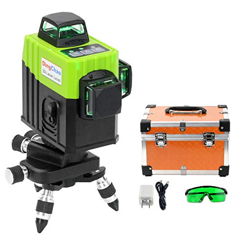 DINGCHAO 3x360 Green Line Laser Level 360 Self Leveling