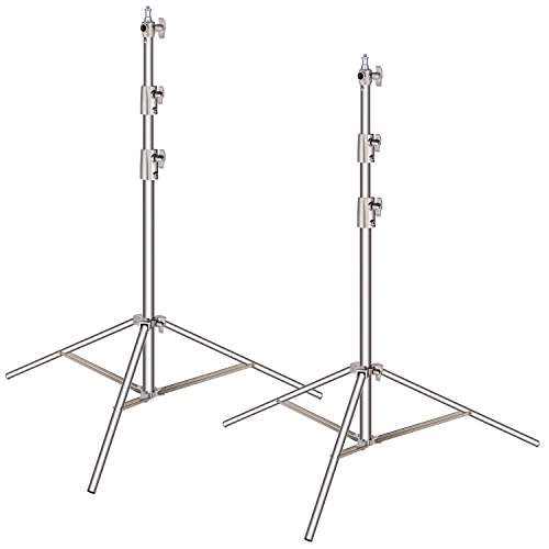 Neewer 2 Pieces Light Stand Kit, 114 inches