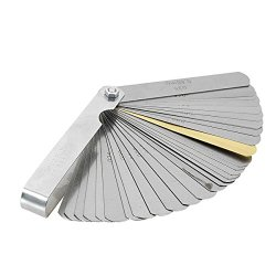 0.02-1.00mm 32 Blade Metric Master Feeler Gauge 0.02-1.00mm 32 Blade Metric Master Feeler Gauge Metric Feeler Gauge Thickness Measurement - Tools & Home Improvement Hand Tools - 1Pcs Measurement Tool, Shipping Methods