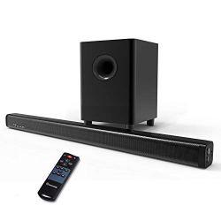 2.1 Channel Sound Bar, Wohome TV Soundbar