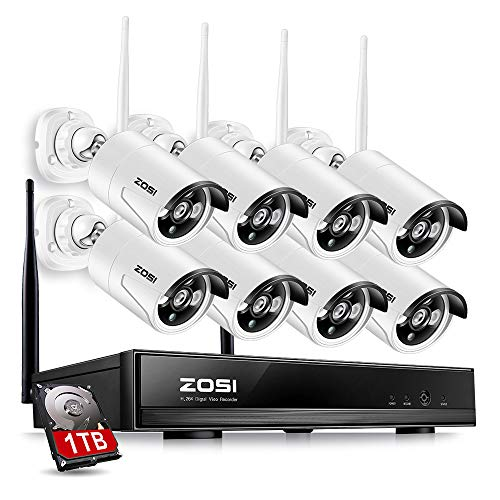 ZOSI 8CH Wireless Security Cameras System