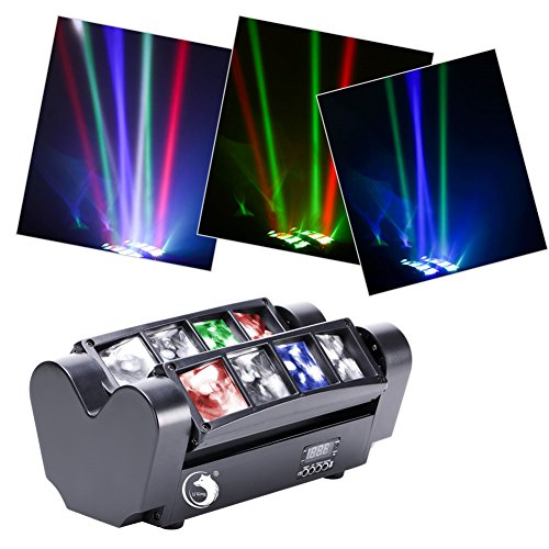 DJ Moving Head Lights Beam Spider Light 8x10W Features: