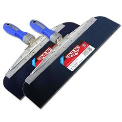 """12"""" & 14"""" Blue Steel Knives Set with Comfort Grip Handle"""