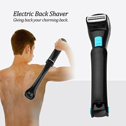 QJHP Back Hair Remover Men's 180 Degree Foldable Back Electric Shaver